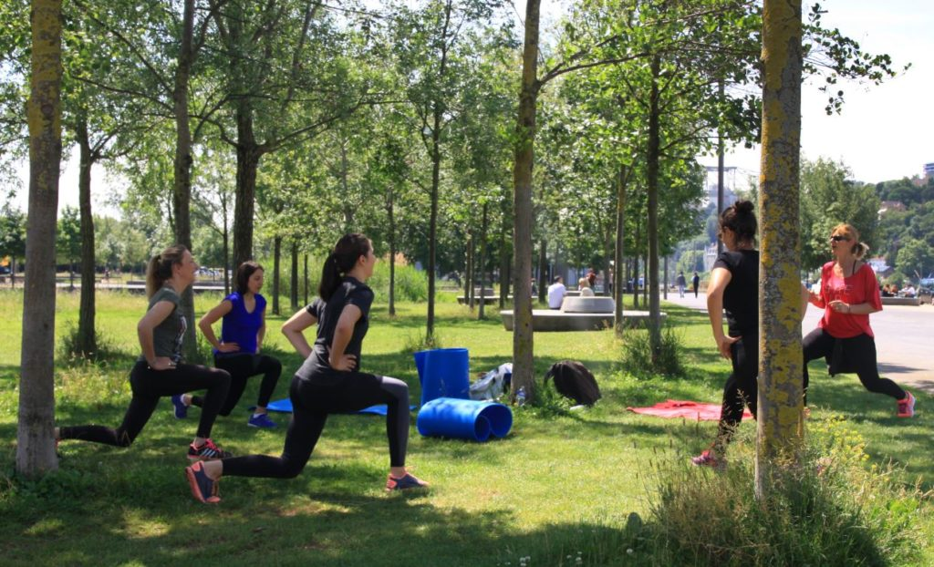 sport en plein air en entreprise
